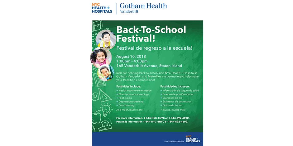 Back-2-School Health Fair | NYC Health + Hospitals/Gotham