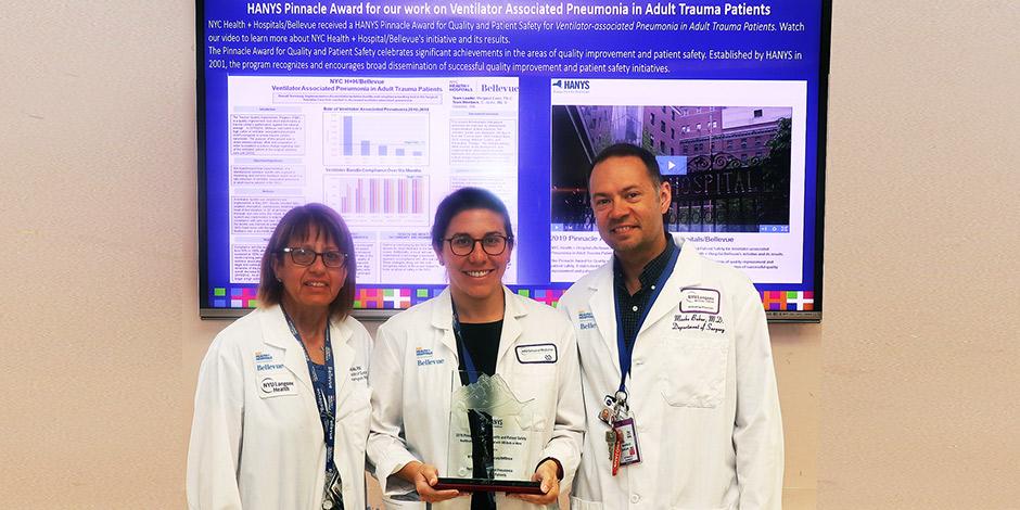 Bellevue Receives Award For Reducing Ventilator Associated Pneumonia