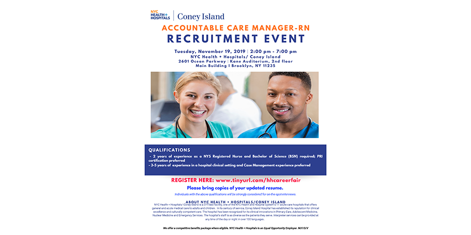 Accountable Care Manager - RN Recruitment Event