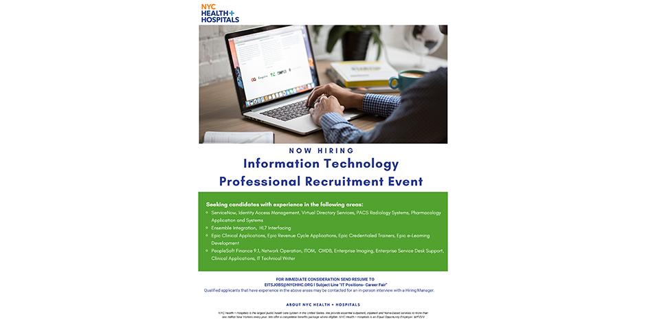 Information Technology Professional Recruitment Event