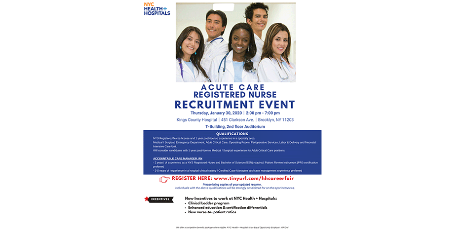 Acute Care Registered Nurse Recruitment Event