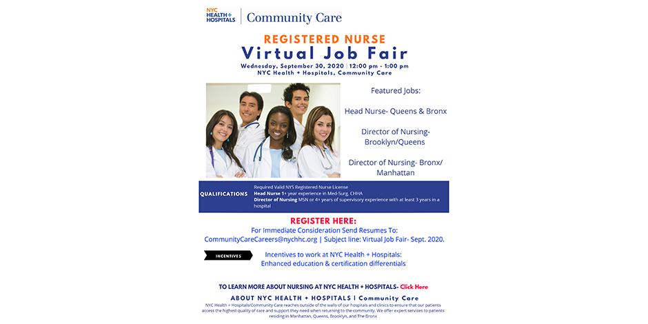 Community Care - Registered Nurse - Virtual Job Fair